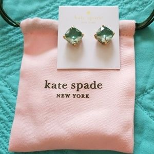 Kate Spade Emerald Small Square Studs